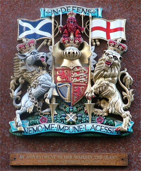Detailed full colour photo of the Royal Warrant