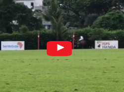 HRH Prince HARRY scores goal in Singapore Sentebale Polo Match