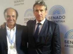 Ernesto Trotz was distinguished by the Sports Commission of the Senate of the Nation.