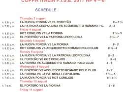 Coppa Italia F.I.S.E. 2017 results and ranking